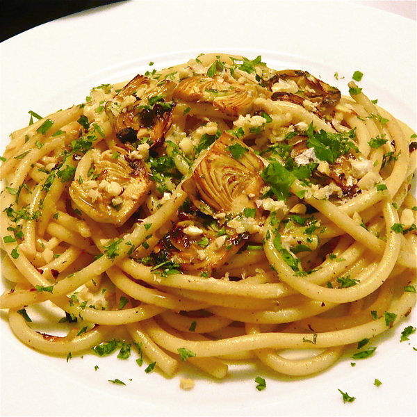Whole Wheat Black Pepper Fettuccine With Baby Artichokes Recipe ...