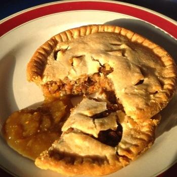 Mom's no-meat pie and chutney