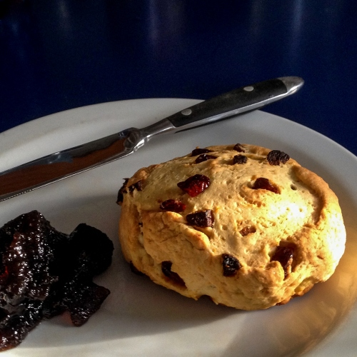 Cranberry, orange & apricot scones.